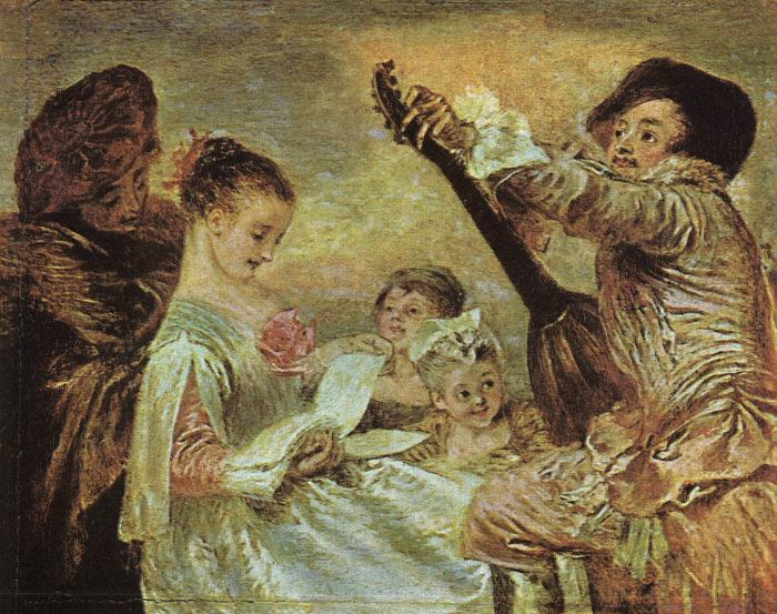 Jean-Antoine Watteau The Music Lesson oil painting image